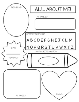 All About Me Poster: Preschool