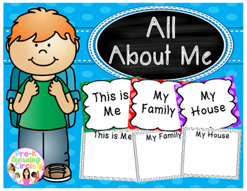 All About Me(Printable Pages and Headers for the Classroom)