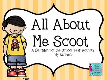 All About Me Scoot: A Beginning of the School Year Activity