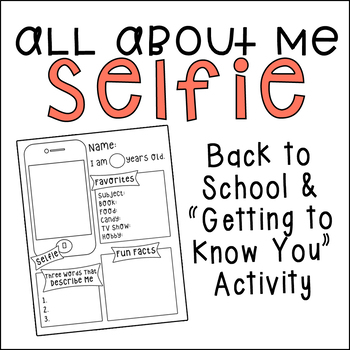 All About Me Selfie Template