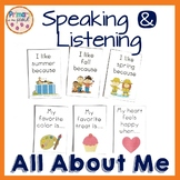 All About Me Speaking and Listening posters and cards