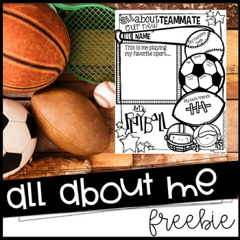 All About Me Sports themed poster for back to school!