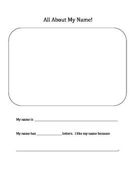 All About My Name Worksheet (Chrysanthemum)