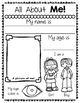 Creative Writing All About Me Worksheets for Preschool and