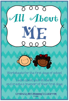 All About Me Worksheets / Activities