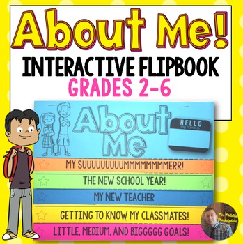 All About Me and Back to School Interactive FlipBook Activ