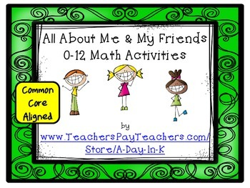 All About Me and My Friends 0 to 12 Math Activities and Pr
