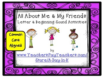 All About Me and My Friends Letter and Beginning Sound Gam