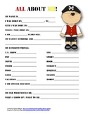"""All About Me"" pirate themed student questionnaire"