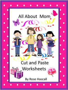 Mother's Day Cut and Paste NO PREP Math & Literacy Printab