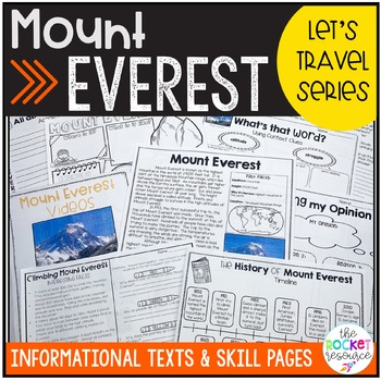 All About Mount Everest Informational text includes sherpa