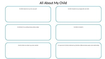 All About My Child Template