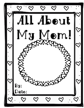 All About My Mom Book (or Grandma)