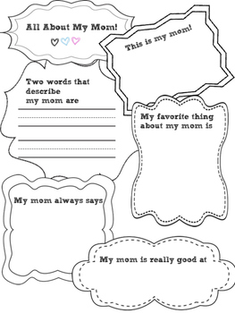 All About My Mom! (No Prep Mother's Day Project and Gift!)