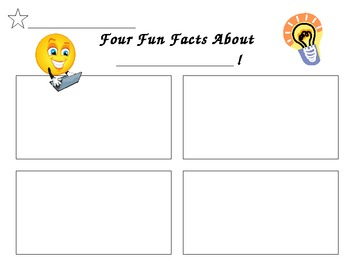 """""""All About"""" Nonfiction Writing Template"""