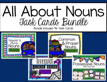 """All About Nouns"" Task Cards Bundle"