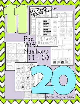 All About Numbers 11 - 20  No Prep