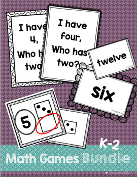 All About Numbers: A Growing BUNDLE {I Have-Who Has, Numbe