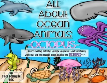 All About Ocean Animals-OCTOPUS! (craft, writing activitie