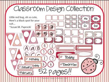 """All About Red"" Classroom Design Collection Pack"