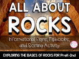 All About Rocks {Signs & Interactive Journal Entries} PreK/K/1st
