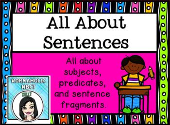 All About Sentences Promethean ActivInspire Flipchart Lesson