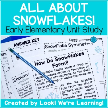 All About Snowflakes Printable Unit Study