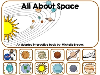 All About Space & The Solar System Adapted Book Autism, SL