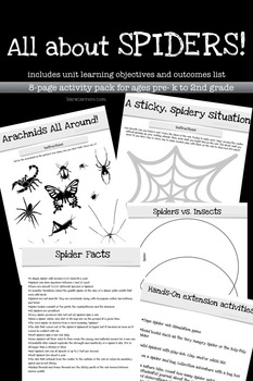 All About Spiders Learning Activity Pack