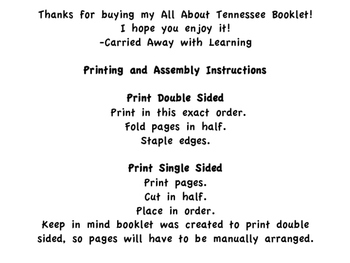 All About Tennessee Booklet