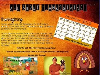 All About Thanksgiving Activinspire flip chart!