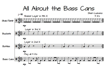 All About The Bass Cans-Teachers Score