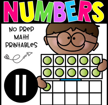 All About The Number Eleven ~ No Prep Math Printables for