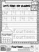 All About The Number Fourteen ~ No Prep Math Printables fo