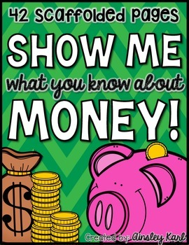 All About U.S. Money, Coins and Change- Scaffolded & Diffe