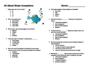All About Water Ecosystems