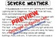All About Weather Comprehension Pack