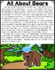 All About Woodland Animals-BEARS!!! (crafts, writing activ