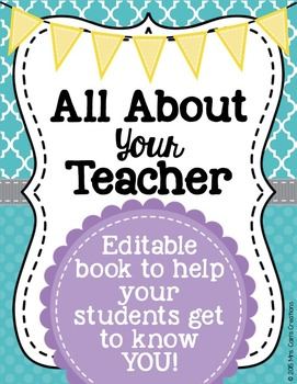 All About Your Teacher Editable Book with Task Cards
