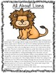All About Zoo Animals-Lion (informative text, crafts, voca