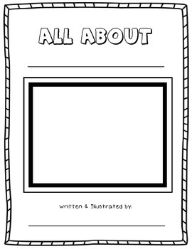 All About _______ {A Research Writing Activity}