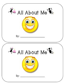 FREE!! All About Me- Kindergarten Writing- Back to School Writing