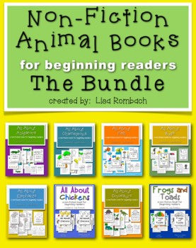 All About... non fiction animal books for beginning reader