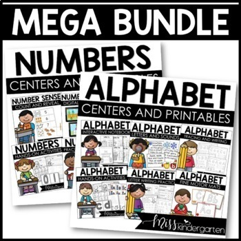 All About the ABCs and Numbers Interactive Printables {Meg