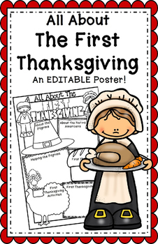 All About the First Thanksgiving Poster
