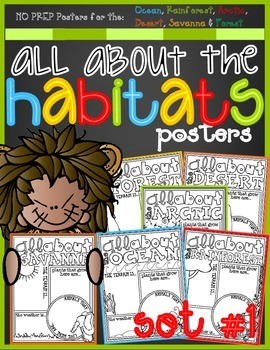 All About the HABITATS Posters Set #1 (Exploring Animal Habitats)