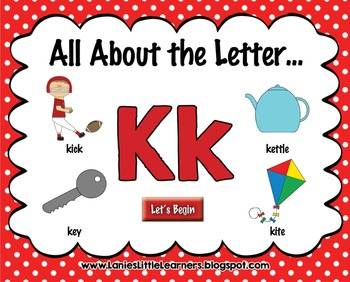 All About the Letter Kk {Letter of the Week SMARTboard Act