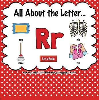 All About the Letter Rr {Letter of the Week SMARTboard Act