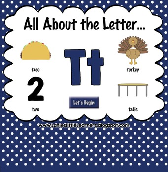 All About the Letter Tt {Letter of the Week SMARTboard Act