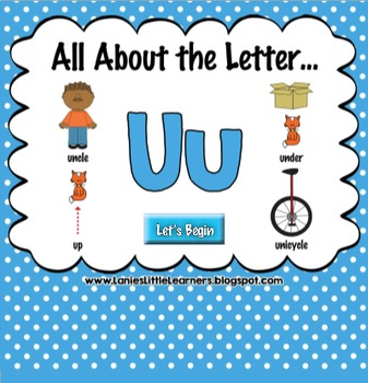All About the Letter Uu {Letter of the Week SMARTboard Act